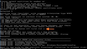 OfflineNTPassword wymuszone montowanie ntfs
